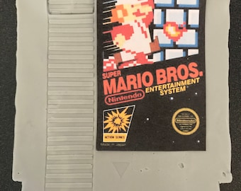 Super Mario Bros. NES Cartridge Soap - Bathroom Soap Gamer Gift Video Game Retro Scented Favor Video Game Retro Nintendo NES Grey Videogame