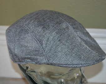 "Vintage Large Gray Drivers Cap Hat (58cm, 23"")"