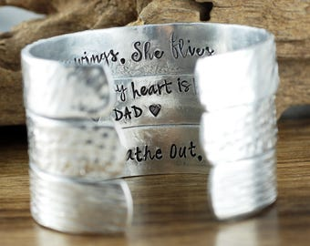 Design your own Cuff Bracelet, Custom Secret Message Bracelet,  Inspirational Cuff Bracelet, Personalized Cuff, Hand Stamped Quote Bracelet