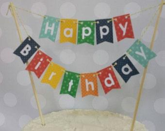 """Cake Bunting,  """"Polka Dot"""",  Happy Birthday"""