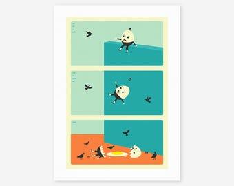 HUMPTY DUMPTY (Giclée Fine Art Print/Photo Print/Poster Print) by Jazzberry Blue