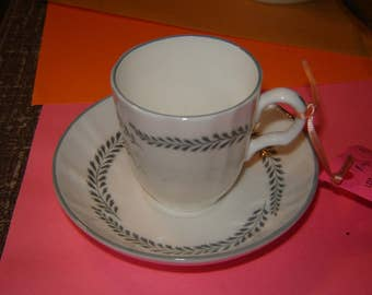 Royal Worcester demitasse cup and saucer  Claridges pattern