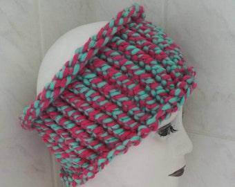 Pink green dreadlock headband tube
