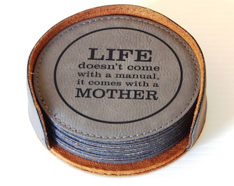 Mothers Day Gifts - Gifts for Mom - Mother's Day Coasters, CAS011