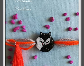 Bracelet sweet Fox black and white