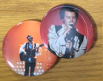 Harry Styles 2018 2.25 INCH Pinback Button Set of 2-Tour 2018