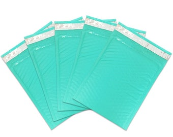 "6"" x 9"" Teal Blue Padded Bubble Mailer Envelope - Lightweight Waterproof Self Adhesive Sealing Shipping Supplies - Protect Fragile Items"