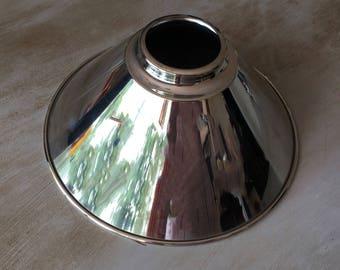 Polished Nickel Cone Lamp Shade