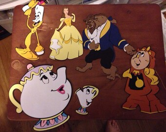 Beauty and the Beast die cuts Set of 6