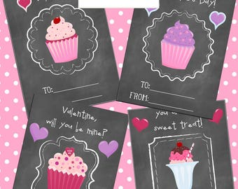 Valentine's Day Cards *PRINTABLE* - Set of 4