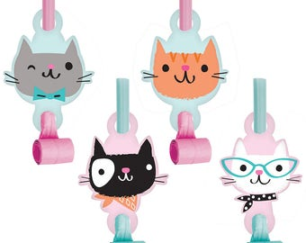 Pretty Kitty Birthday Party Blowout Favors/ Cat Birthday Party Blowouts/ Kitty Party Favors/ Cat Party