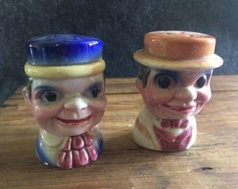 Charlie McCarthy and Mortimer Snerd salt and pepper set