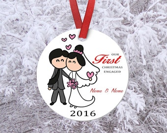 Our first Christmas,Housewarming gift,Our first home,custom ornament,Personalized ornament,Xmas gift,Gifts for her,Engaged ornament,couples