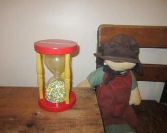 Vintage PLAYSKOOL Hourglass EggTimer Children's Hourglass Toy Nursery Decor