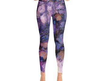 "Yoga Leggings ""Purple Party"""