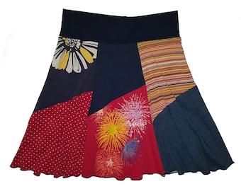 Fun Summer Skirt Women's Small Medium Size 4 6 8 Patriotic 4th of July Skirt Recycled Skirt Best Selling Item Twinkle Skirts Twinklewear