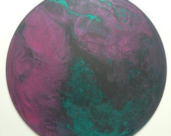 Acrylic Fluid Painting: Northern Lights