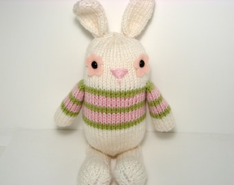 Sale - Amigurumi Knit Jelly Bean Bunny Knit Pattern Digital Download