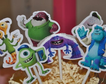 Monsters University Cupcake Toppers Set of 12