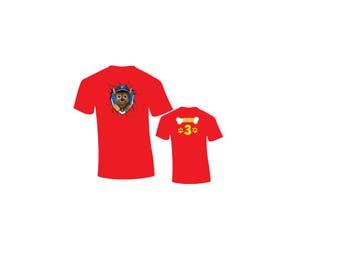 Sale! Paw Patrol Birthday Shirt - Raglan Baseball Shirt Available...