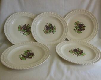Copeland Spode Grape 9  Plates set of 5 & Grape plates   Etsy