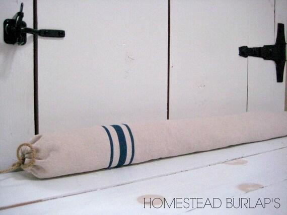 & Door draft stopper /Window Draft Stopper /Grain sack style