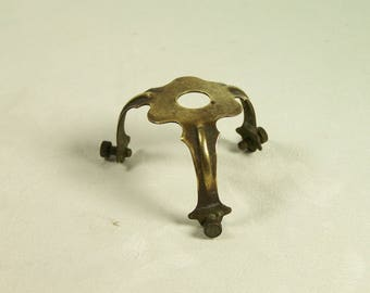 Brass lamp claw for lampshade Lamp shade holder vintage Made in France