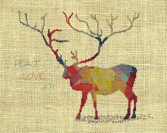 Deer/Christmas/Holiday/Animal Counted Cross Stitch Pattern