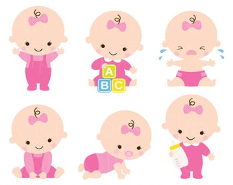 baby shower clipart clip art baby boy girl clipart cute baby rh etsy com baby girl clipart pictures girl child images clipart