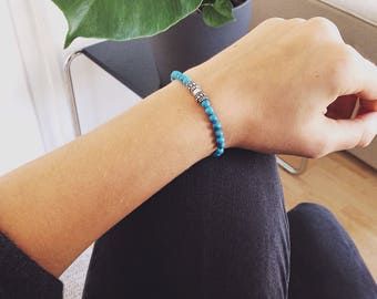 Boho Turquoise and silver with tassel
