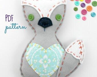 Felt Fox Plush Toy. Sewing Pattern. Hand Sewing. Hand Embroidery. Kids Crafts. Beginner Tutorial. Digital Pattern. Woodland Decor. Softie.