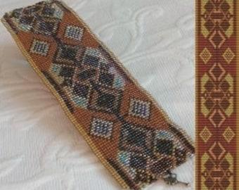 Loom Bead Pattern - Ethnic Flair 3 Cuff Bracelet