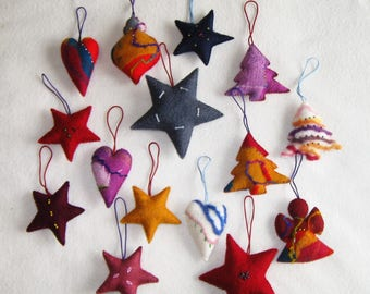 15 Felted Christmas Decorations#7