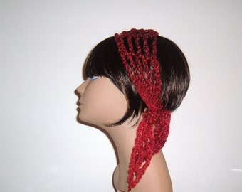 The Mini Makeeda Headwrap Headband Hair Tie Scarf in Red Mixed Berries Choose Your Color