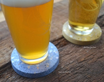 """4 - Beachstone®  Sustainable Products  3"""" Coasters (set of four)"""