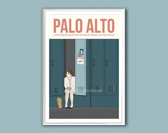 Palo Alto retro print movie poster in various sizes