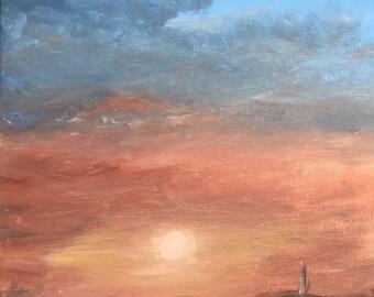 Drunken desert sunset