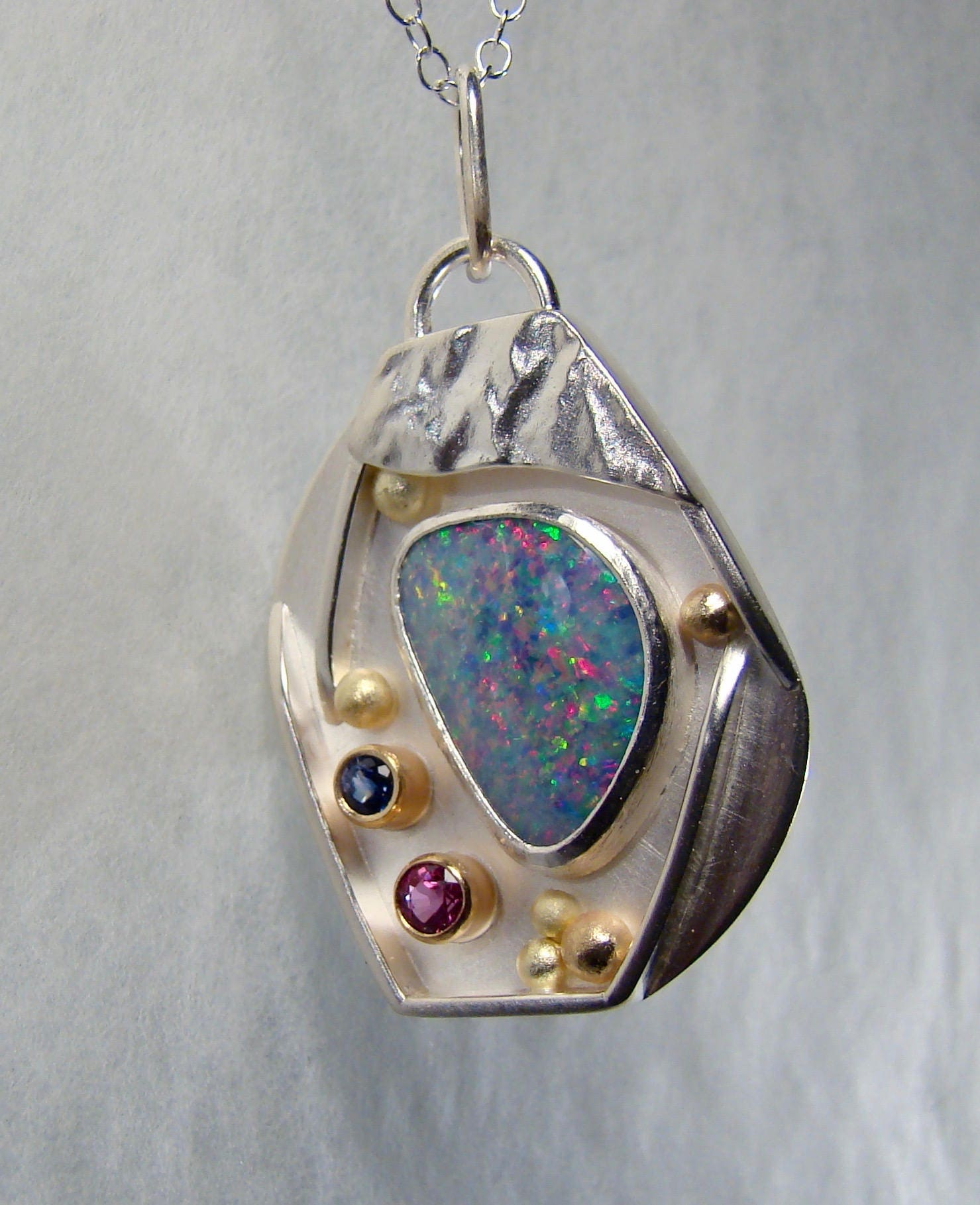 water fresh store necklace pearl opal pendant on boulder
