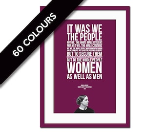 Susan B. Anthony Speech Quote Art Print - Women's Rights - American History Poster - Women's Vote - Political - Protest Poster - Feminism