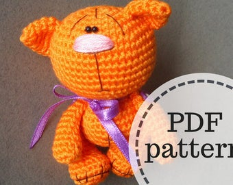 Amigurumi crochet kitten pattern, PDF pattern, ENGLISH language