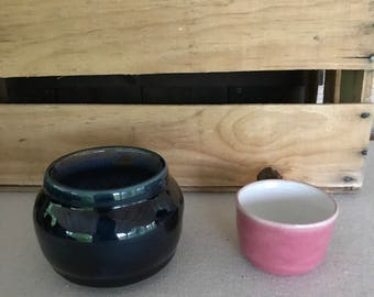 """Salsa bowls can be made in all sizes and colors these are 1 and 3/8"""" high and 4"""" wide the smallest is at  2"""" high and 3 and  1/4"""" wide."""