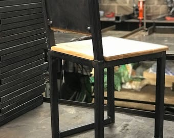 Hand crafted industrial style chair