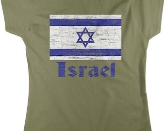 Flag of Israel, Israeli Flag, Israel Pride Women's T-shirt, NOFO_00015