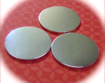 """100 Discs 1.25"""" 14 Gauge Polished NO HOLES Heavy Weight Pure Food Safe Metal - 100 Discs"""