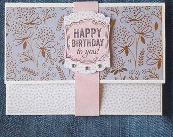Feminine Birthday Gift Card Holder