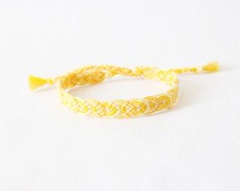 Sun Please! Friendship Bracelet, Leaf Pattern woven bracelet, knotted bracelet