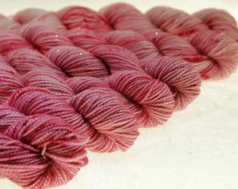 Mini Skein Ombre Gradient Yarn Choose Your Base -  Cherry Blossom