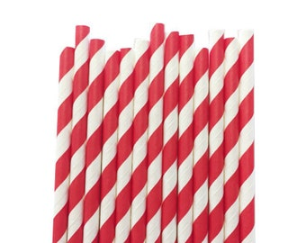 Red Paper Straws, Straws, Watermelon Party, Paper Straws, Red Party Straws, Holiday Straws