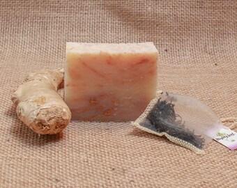 White Tea Ginger Soap, Vegan Soap, Artisan Soap