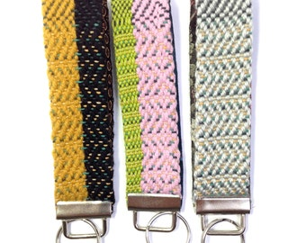 "Handwoven Key Fobs Set of 3 | ""Portland"" Colorful Keychain Set 